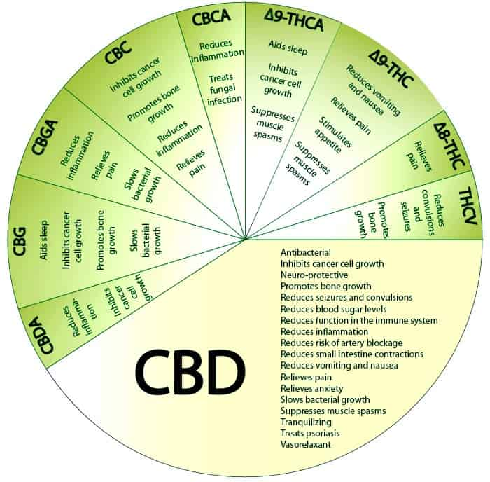 Full Spectrum CBD Chart. Chart is false and not backed by science